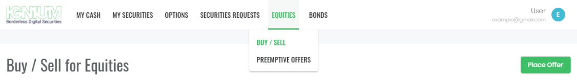 Buy and Sell Backify Equity on Ignium