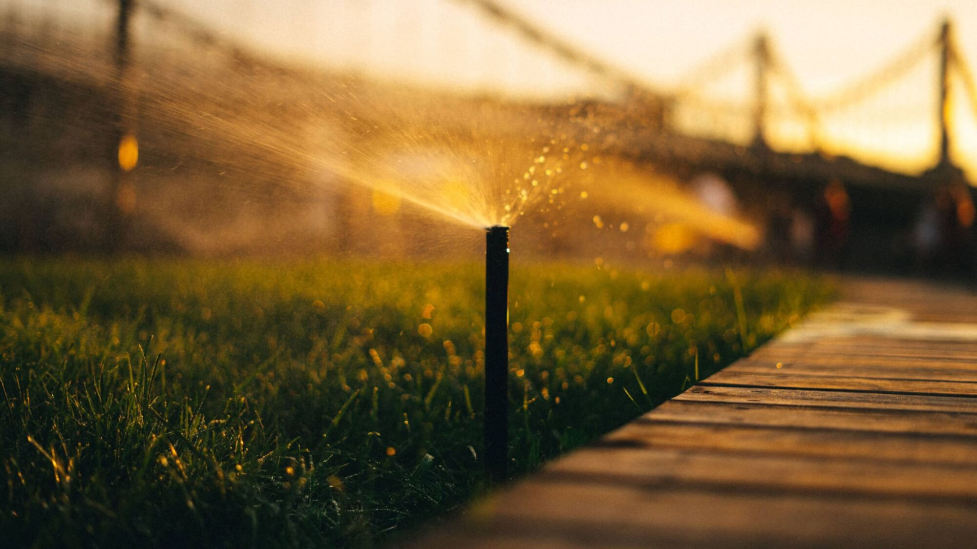 No more regular garden maintenance with a watering system in place